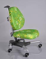 Детское кресло Mealux Y-517 SZ метал серебристый, обивка зеленая с кольцами