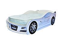 Кровать машина JAGUAR белая (маленькая)+матрас