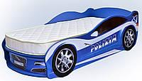 Кровать машина JAGUAR Полиция синяя Mebelkon