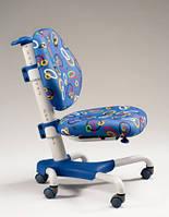 Детское кресло Mealux Y-517 WB метал белый, обивка синяя с кольцами
