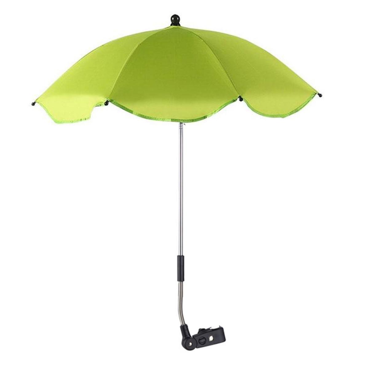 Универсальный салатовый зонтик для коляски LELIK со съемным креплением