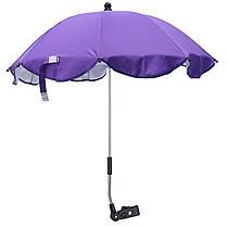 Универсальный фиолетовый зонтик для коляски LELIK со съемным креплением