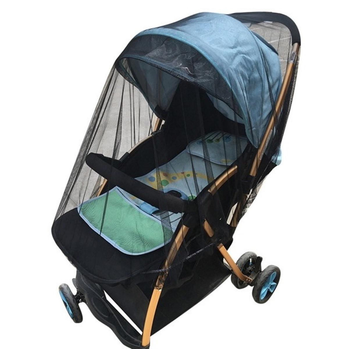 Универсальная черная антимоскитная сетка  LELIK для детских колясок