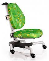 Детское кресло Mealux Y-517 WZ метал белый, обивка зеленая с кольцами