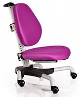 Детское кресло Mealux Y-517 WKS метал белый, обивка фиолетовая