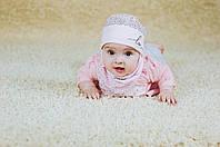 Детская шапка (набор) для девочек ЧЕРИ оптом размер 40-42-44