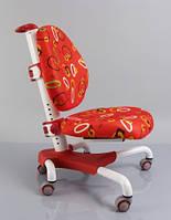 Детское кресло Mealux Y-517 WR метал белый, обивка красная с кольцами