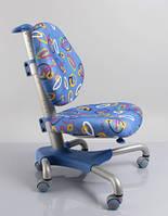 Детское кресло Mealux Y-517 SB метал серебристый, обивка синяя с кольцами