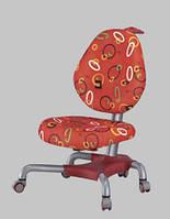 Детское кресло Mealux Y-517 SR метал серебристый, обивка красная с кольцами
