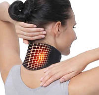 Турмалиновый шейный бандаж с магнитами Self heating neck guard band SKL11-276423