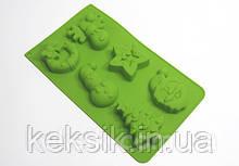 Форма силикон для выпечки Новогодние кексы 2