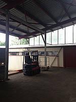 Изготовление и монтаж складов до 3000 кв. м. , рамп, навесов, встроенных в склады офисов, световых фонарей, на
