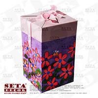 """Подарочная коробка """"Весенние цветы"""""""