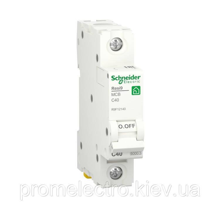 Автоматичний вимикач Schneider RESI9 1P 40A С 6кА (R9F12140)
