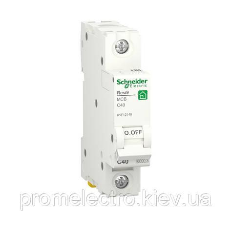 Автоматичний вимикач Schneider RESI9 1P 40A С 6кА (R9F12140), фото 2