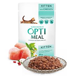 Пауч Optimeal Kittens Оптіміл для кошенят з куркою 85 г