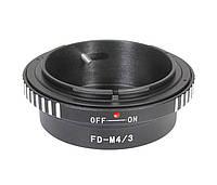 Адаптер переходник Canon FD - Micro 4/3 M4/3 красн Ulata