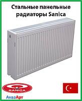 Стальной радиатор Sanica 33k 500*500 б.п.
