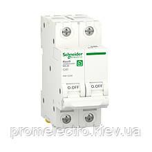 Автоматичний вимикач Schneider RESI9 2P 40A З 6кА (R9F12240)