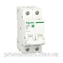 Автоматичний вимикач Schneider RESI9 2P 63A З 6кА (R9F12263)