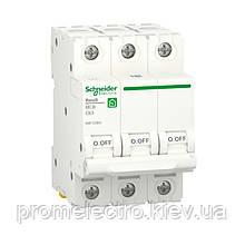 Автоматичний вимикач Schneider RESI9 3P 63A З 6кА (R9F12363)