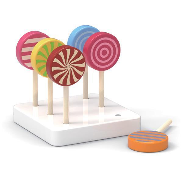 Набір іграшкових льодяників Viga Toys з дерева 6 шт. (44529)