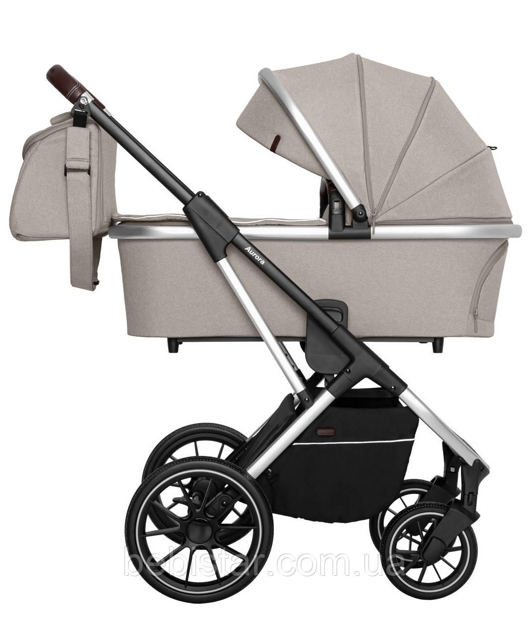 Универсальная коляска Carrello Aurora 2в1 серая рама люлька прогулочный блок москитная сетка дождевик