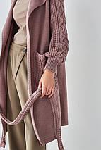 Вязаный длинный кардиган  «Зефирка» размер 54/60, фото 2