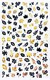 Осінній слайдер, наклейка для дизайну нігтів F-660 чорне золото, фото 2