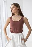 Жіночий топ Stimma Беслу 6614 Xs Шоколадний, фото 3