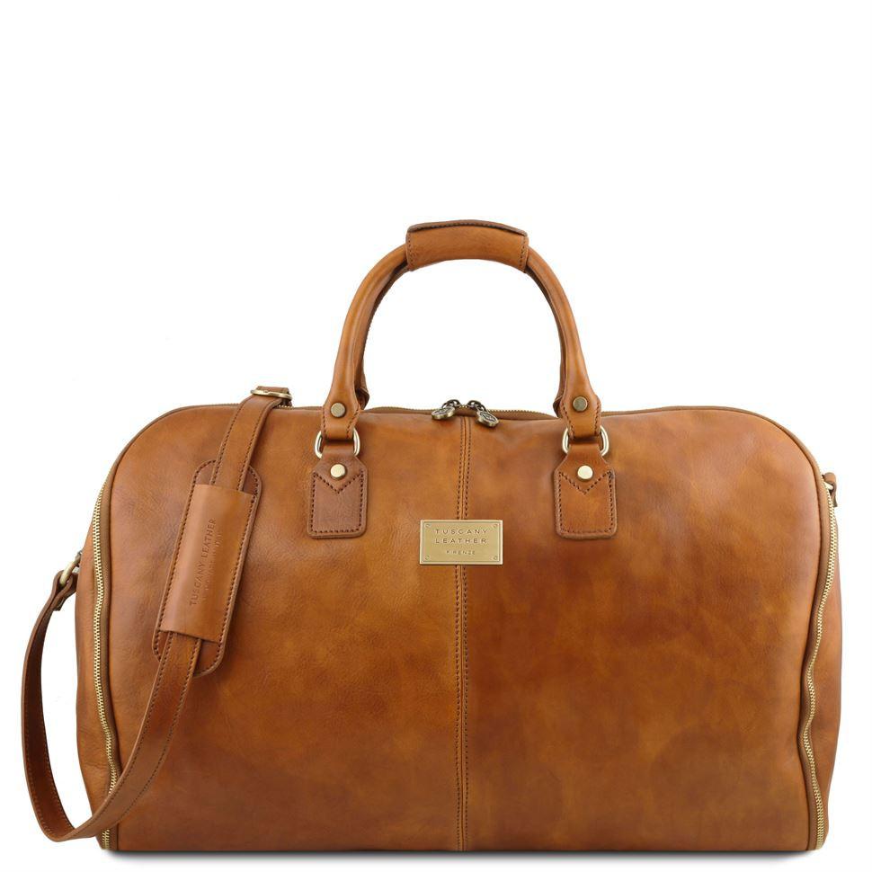 Вместительная кожаная сумка для путешествий унисекс Antigua TL141538 (Sand - песочный)
