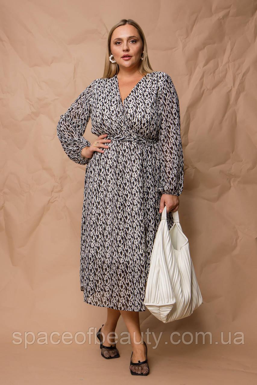 Женское платье Stimma Вилди 8101 2Xl Черный