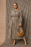 Женское платье Stimma Паулина 8122 2Xl Бежевый, фото 3