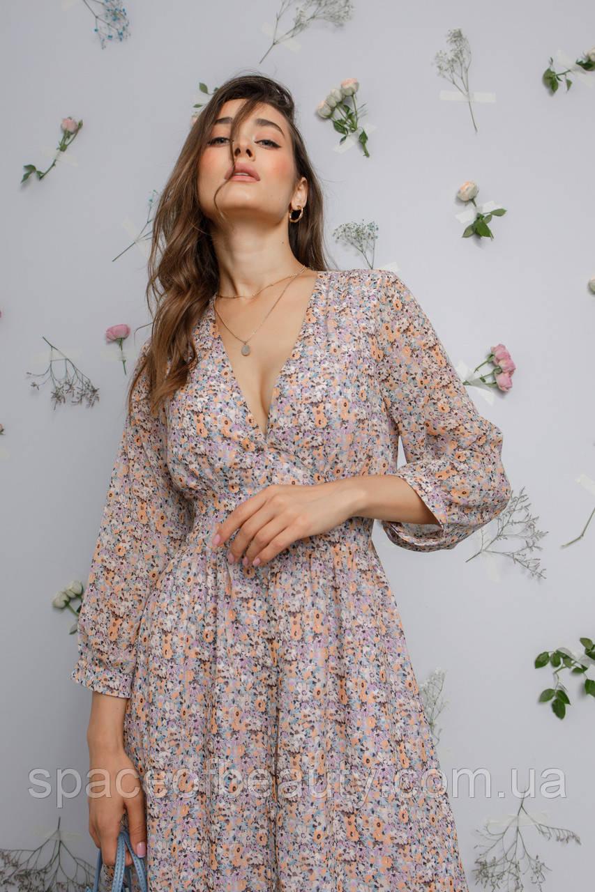 Женское платье Stimma Ненси 8157 Xs Сиренево-Бежевый