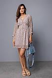 Женское платье Stimma Ненси 8157 Xs Сиренево-Бежевый, фото 4
