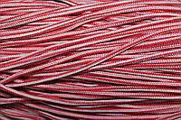 Шнур 5мм с наполнителем (200м) красный + белый