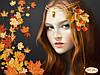 """Рисунок на ткани для вышивания бисером """"Осень"""""""