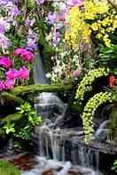 Панно Цветы  водопад кафель фотопечать, плитка 20х30см.