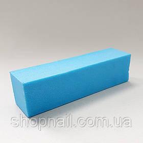 Баф для нігтів 4-х сторонній, блакитний