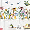 """Вінілові наклейки в салон краси на стіну, вікна, шафи, вітрини """"польові квіти"""" 56*99см (лист 60*90см), фото 6"""