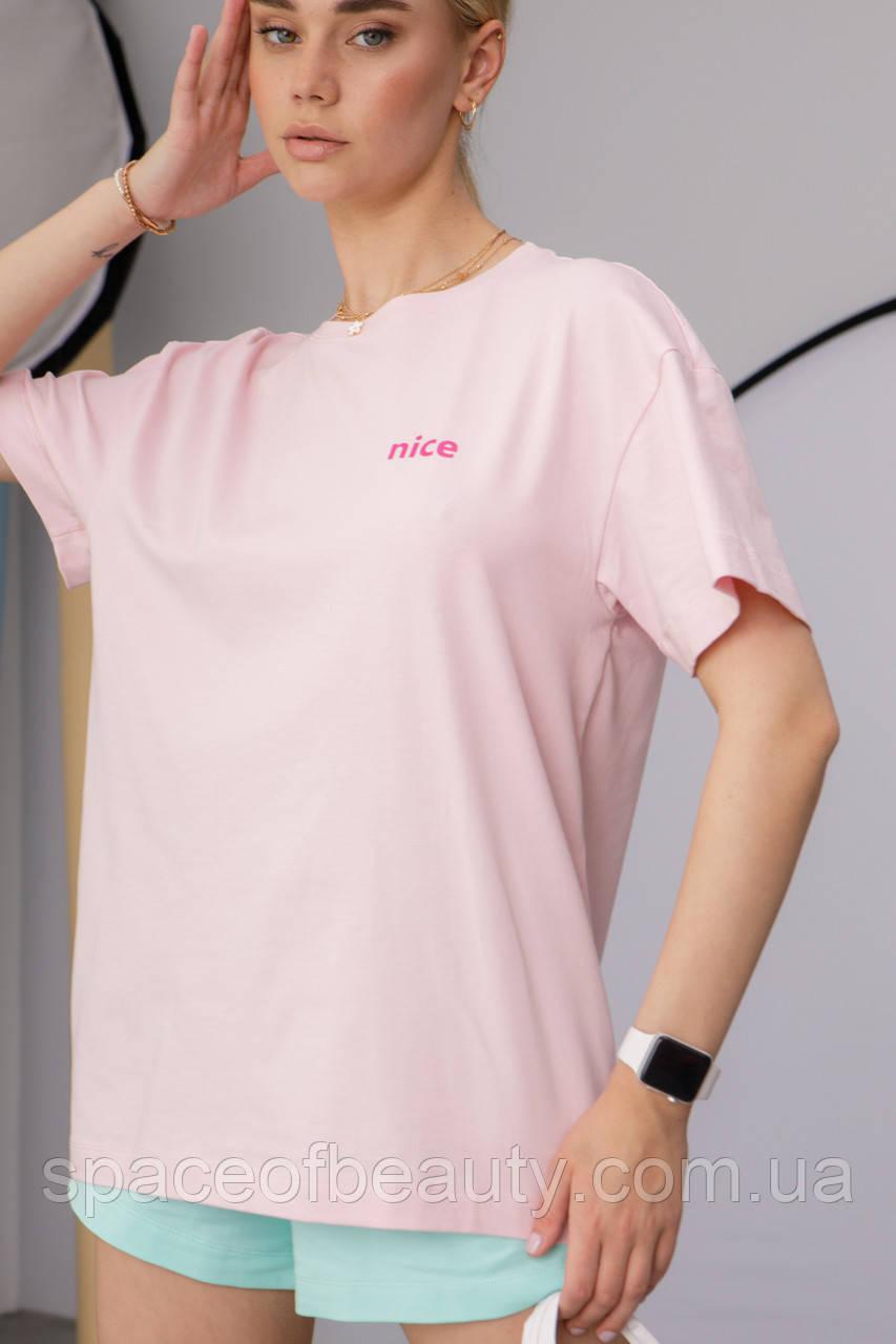 Женская футболка Stimma Чанди 7629 M Нежно Розовый