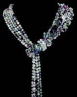 Ожерелье из камня флюорит