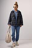 Женская рубашка Stimma Мерика 8365 Xxs Темно Джинсовая Клеточка, фото 2
