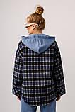 Женская рубашка Stimma Мерика 8365 Xxs Темно Джинсовая Клеточка, фото 4