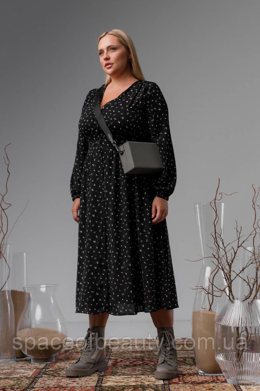 Женское платье Stimma Акира 8310 2Xl Черный