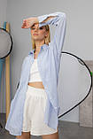Жіноча сорочка Stimma Сабэсти 7639 Xs Темно-Джинсова Вузька Смужка, фото 2