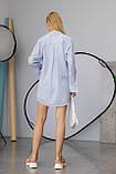 Жіноча сорочка Stimma Сабэсти 7639 Xs Темно-Джинсова Вузька Смужка, фото 3