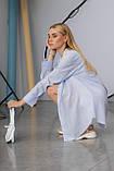 Жіноча сорочка Stimma Сабэсти 7639 Xs Темно-Джинсова Вузька Смужка, фото 4