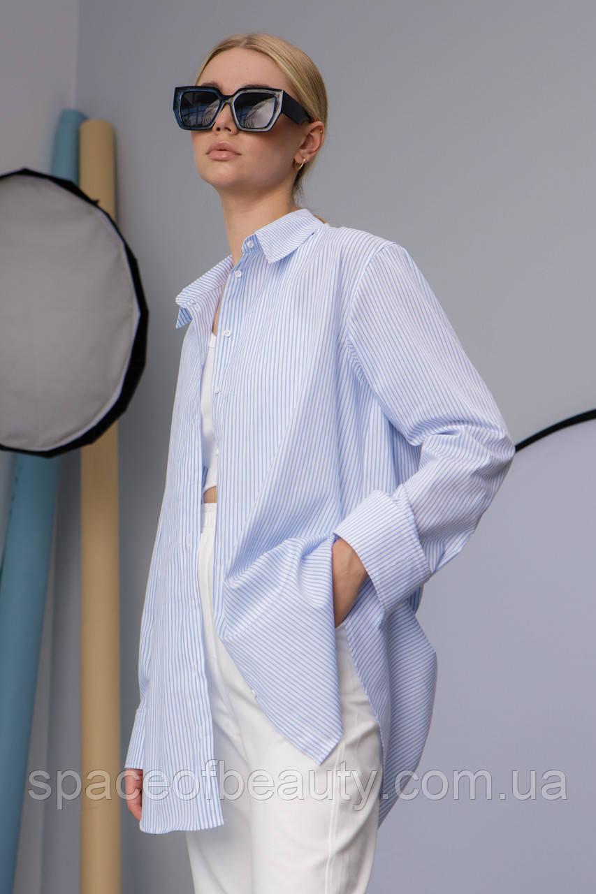 Женская рубашка Stimma Cабэсти 7643 Xs Голубая Узкая Полоска