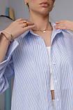 Женская рубашка Stimma Cабэсти 7643 Xs Голубая Узкая Полоска, фото 3